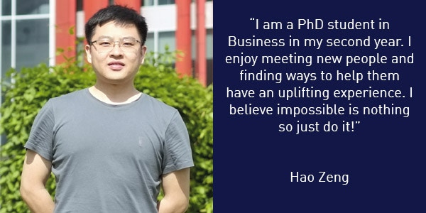 Hao Zeng International Student Buddy Quote 600x300
