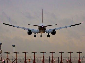 Aeroplane at Heathrow Airport