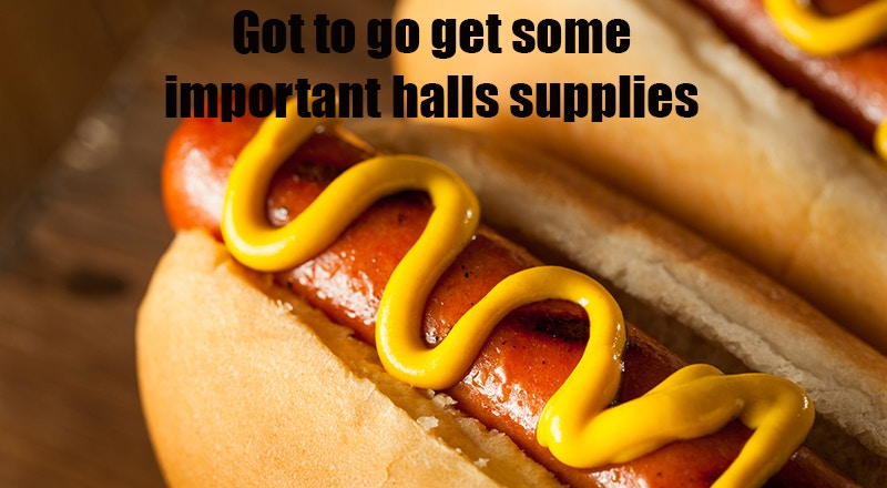 Hotdogs - welcome week