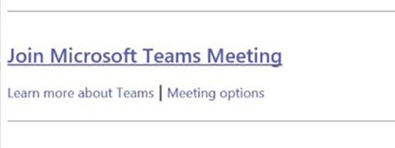 Microsoft Teams meeting invite