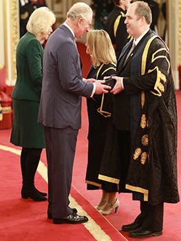HRH Prince of Wales and Professor Phillip Plowden Vice Chancellor of Birmingham City University crop