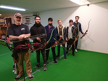 Engineering students at Lichfield Archers