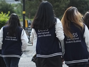 International Student Buddies Image 350x263 - Buddies in letterman jackets