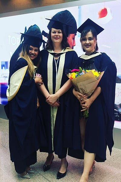 Fashion Business and Promotion International students at graduation