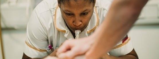 Student nurses practise their skills