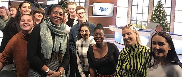 Jeremy Vine and Journalism students- first semester Journalism blog