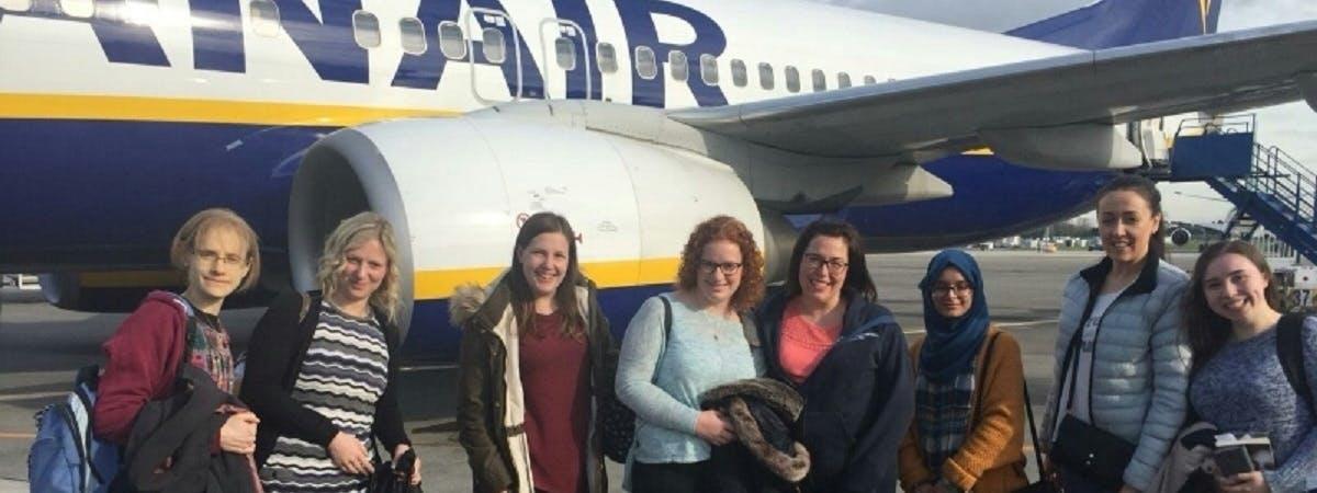 LD nurses at the airport
