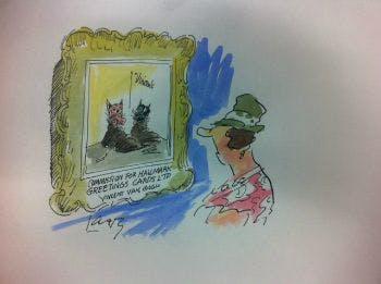 Larry Cartoon collection exhibit