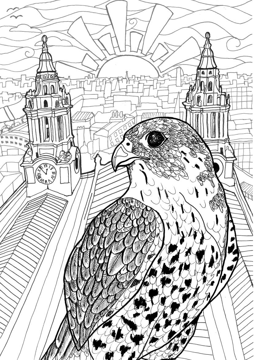'London Alive' Adult Colouring Book