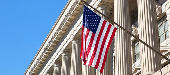 Law School American Internships Top Image 682x300 - American flag outside a court house