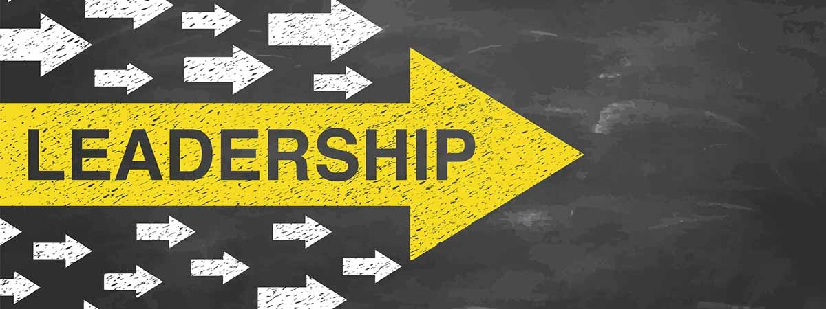 """BAC Leadership Article 1200x450 - Arrows with the word """"Leadership"""" on"""
