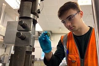 Lewis Sherwood, Mechanical Engineering Placement student