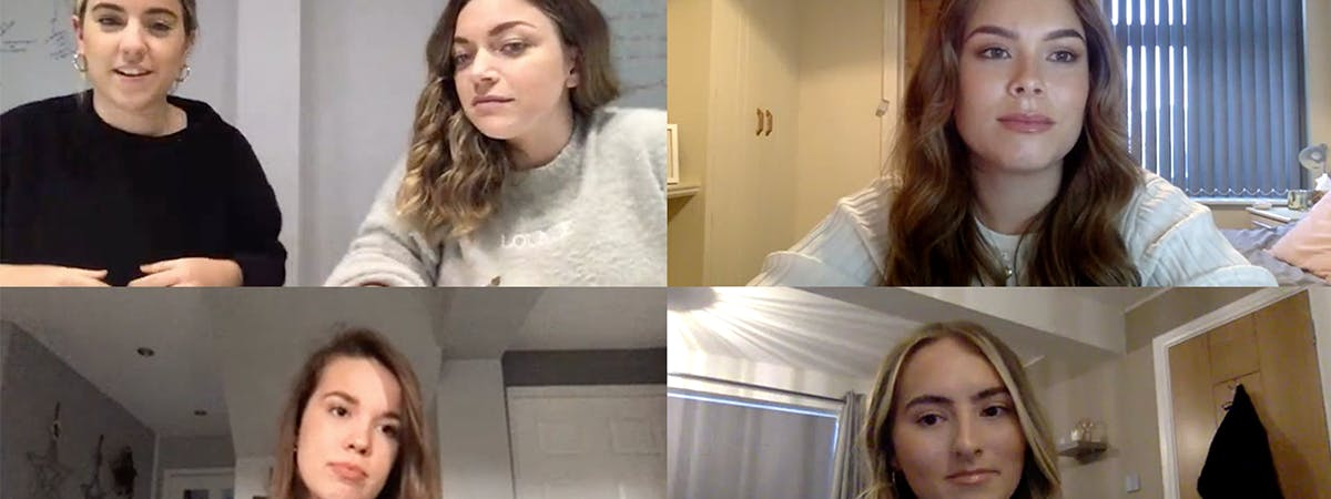 A still from the online meeting with the Lounge Underwear team
