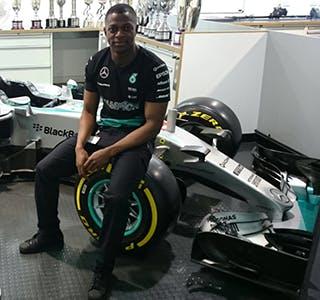 Lukmon at Mercedes-Benz Grand Prix