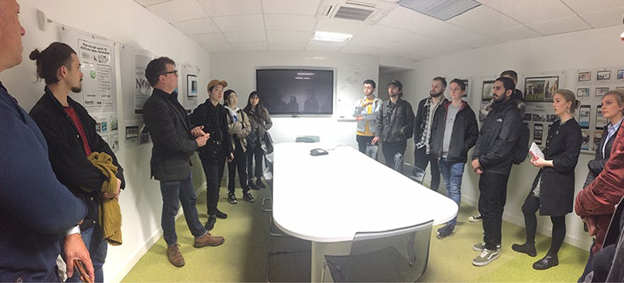 BA (Hons) Graphic Communication students were recently given the opportunity to visit a variety of Manchester-based agencies