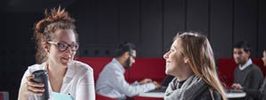 Marketing (Advertising and PR) Course Image 1200x450 - Two women at a table