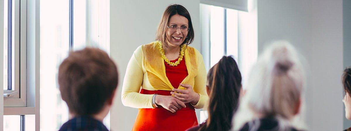 Tatiana Tkacukova teaching