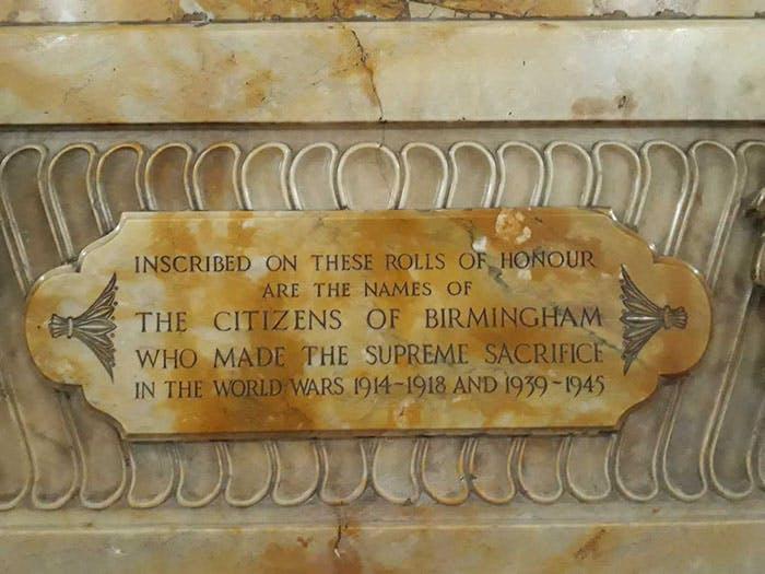 Memorial Post 4 - Memorial plaque
