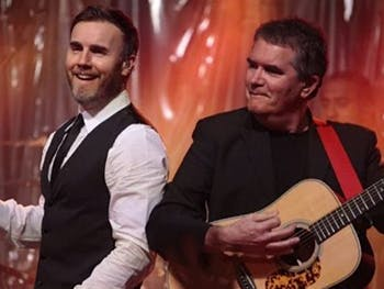 Mike Stevens with Gary Barlow