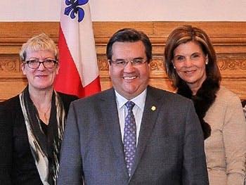 Kathryn Moore with Mayor of Montreal