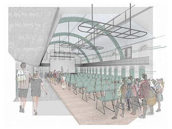 A mock up design of a space at Moseley Road Baths