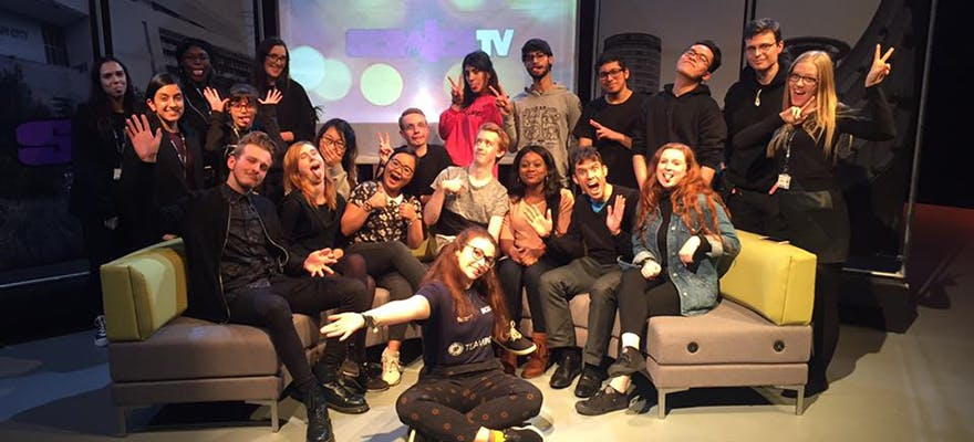 Image of Scratch TV media students