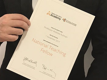National Teaching Fellows 2017- award- Andrew Kulman