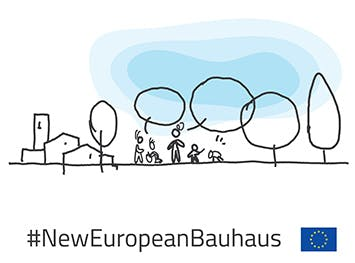 Logo for the New European Bauhaus