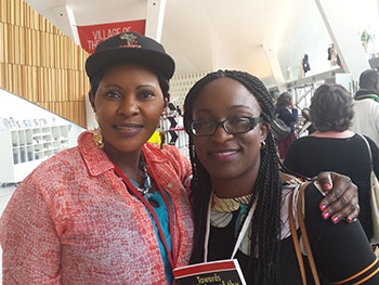 Akem Adeleye and Susanne Kigula at the World Congress Against the Death Penalty