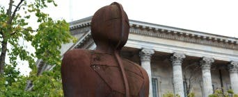 The Iron Man statue in Birmingham City Centre