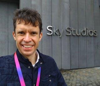 Patrick Lay media graduate outside Sky Studios