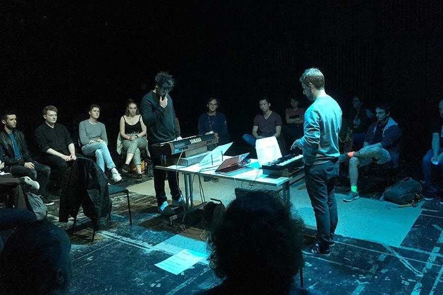 Performing-in-studio-space