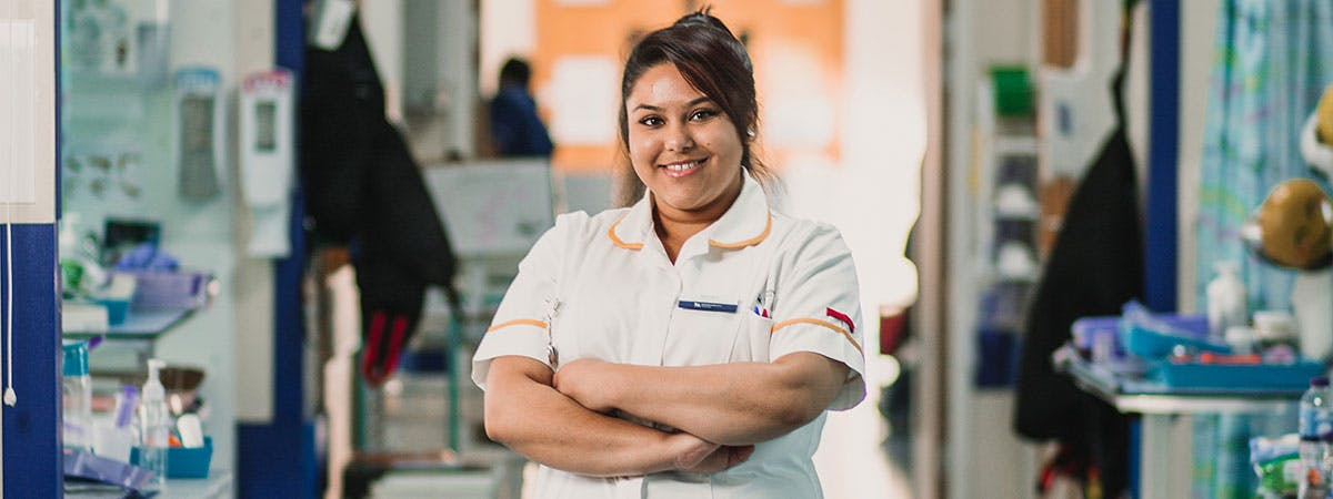 Nursing student in placement