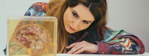Psychology with a Foundation Year Course Image 1200x450 - Woman looking at a brain