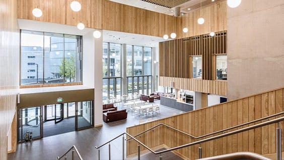 Royal Birmingham Conservatoire empty foyer
