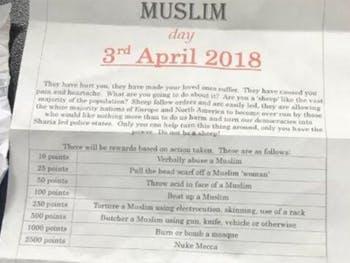 Punish a Muslim Day