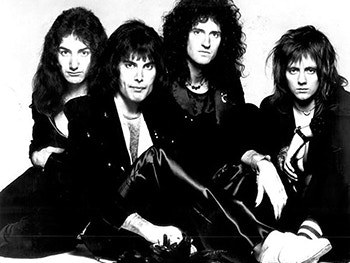 Queen (Band) Freddie Mercury Brian May Roger Taylor John Deacon Image 350x263