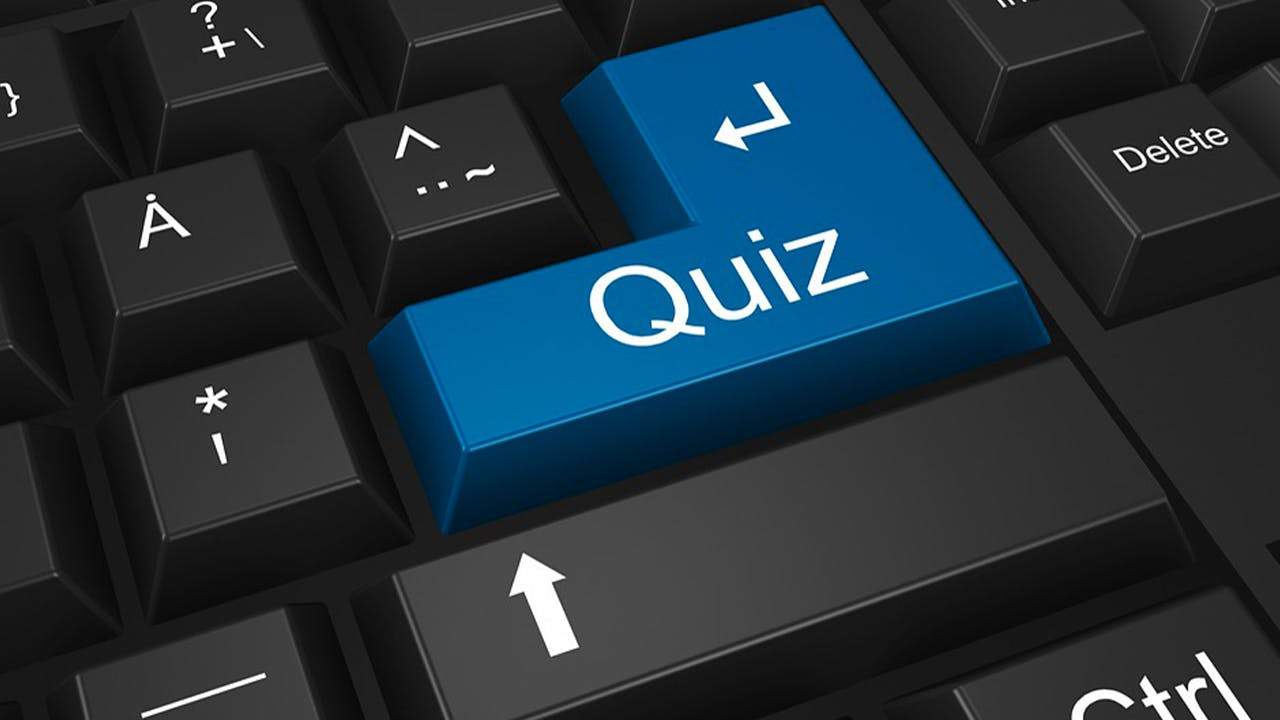 picture of quiz button on computer keyboard