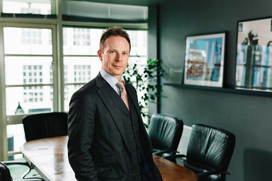 Regan Peggs 900x600 - Regan in his office