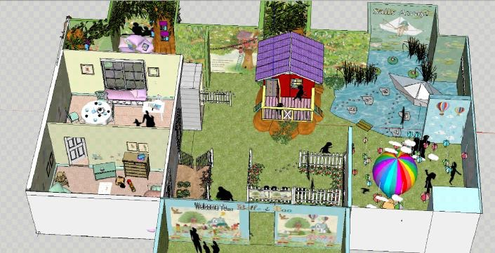Final SketchUp Design for Discover Children's Story Centre