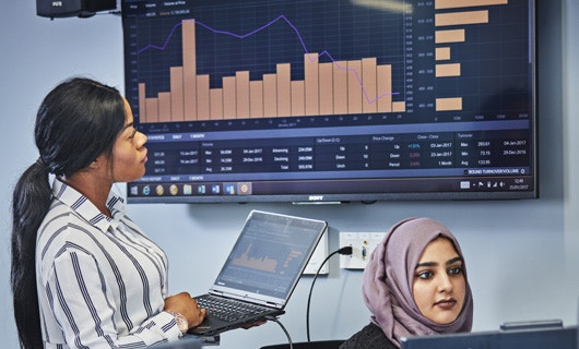 Business School - News - ATD - See Our Kit Image 530x320 (Women in the City Trading Room)