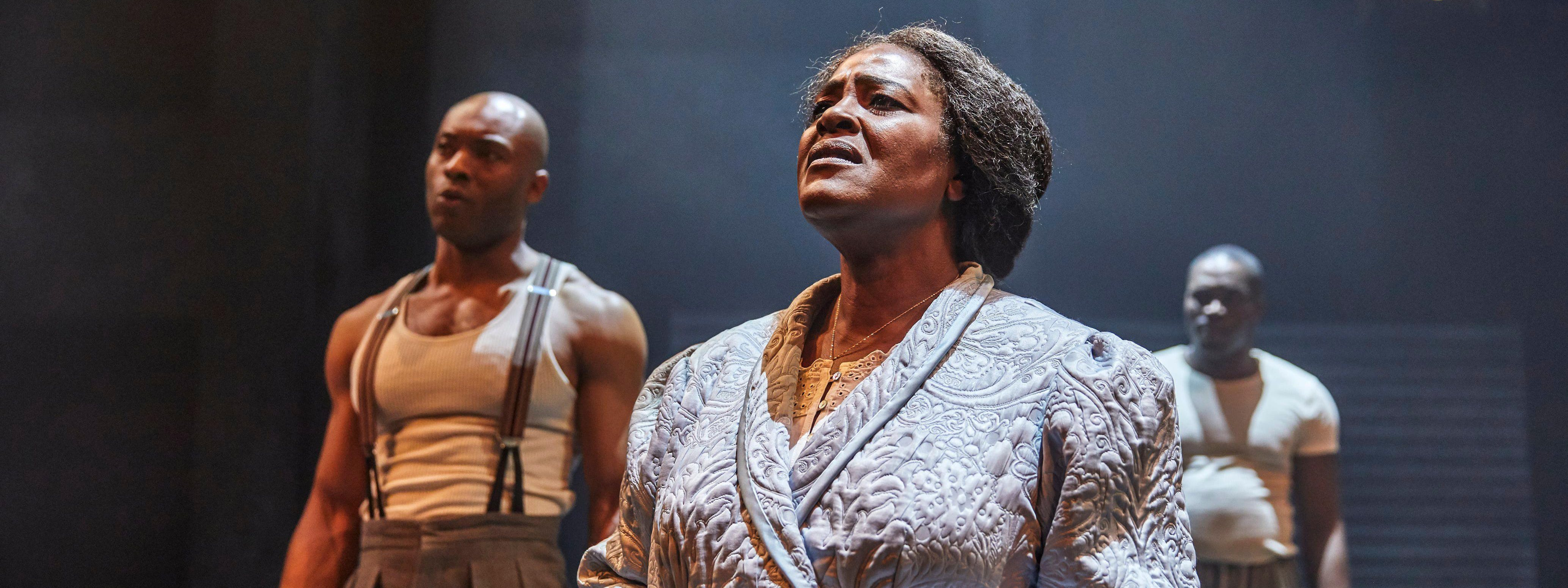 Sharon D Clarke in Death of a Salesman - on stage with co-stars