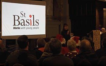 St. Basils sleepout feature box