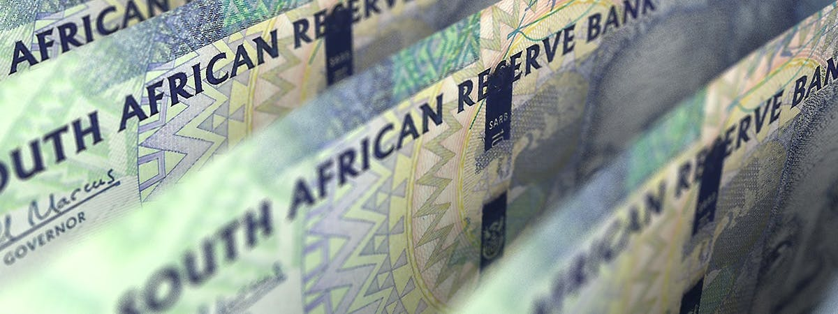 South African money being printed.