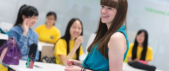 tutor with Summer School class