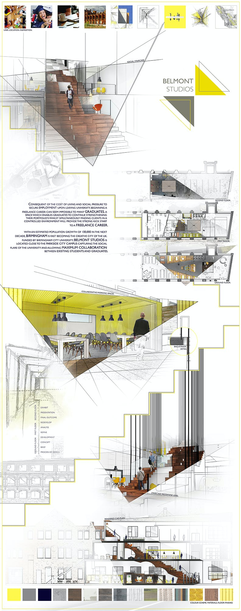 Sydney Davies interior architecture and design student work