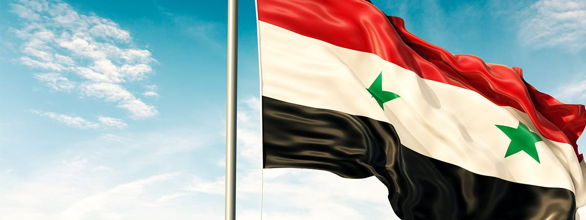 Image of the Syrian flag.