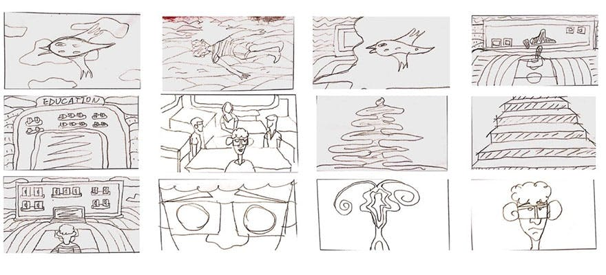 Sketches from film 'Break the Confinement'