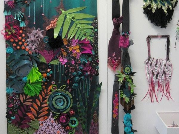 textile design scarf and tie design