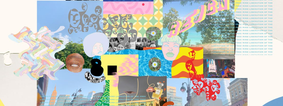 Collage of work from the Signature Project